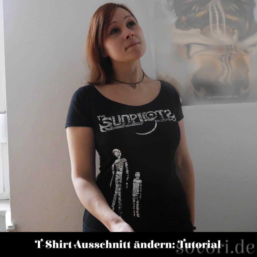 T-Shirt Ausschnitt Vergrößern von Sovori