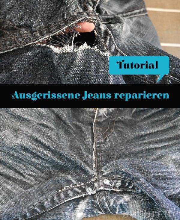 Alte Jeans reparieren