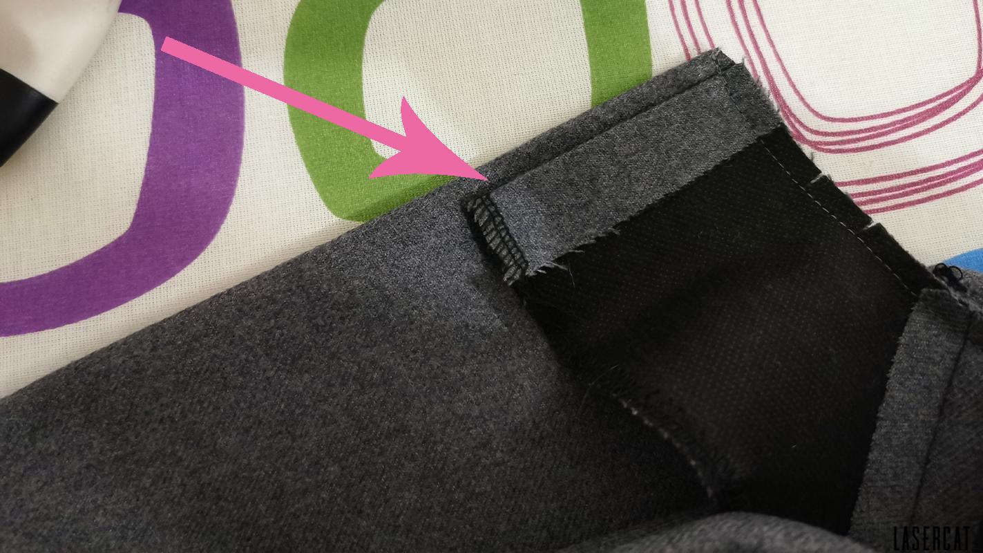 Besatz richtig umbügeln für verdeckten Reißverschluss