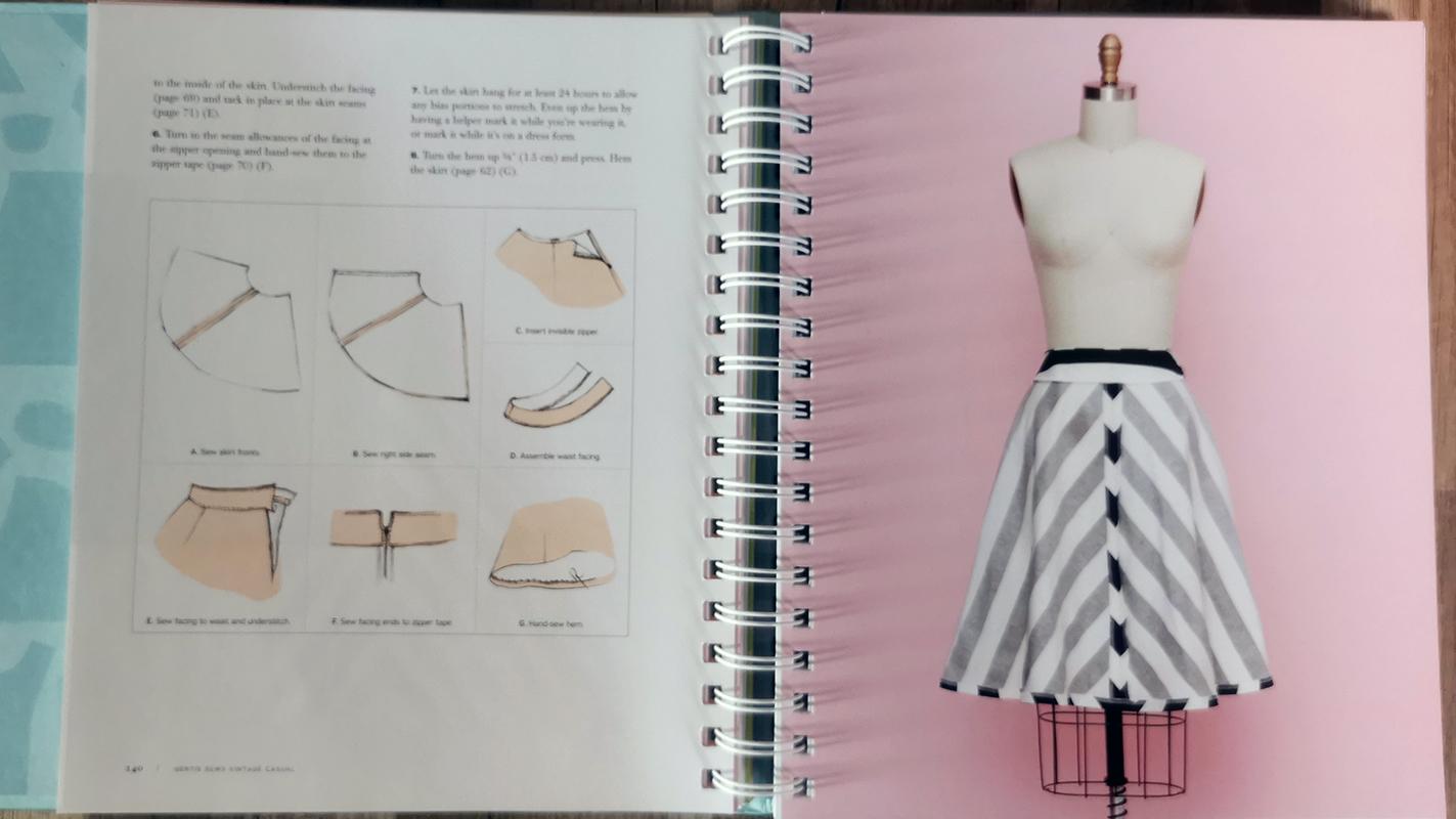 Gertie sews vintage Casual flared skirt