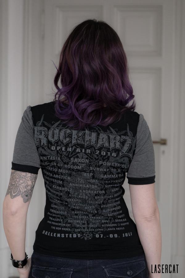 Rückseite meines Rockharzshirts