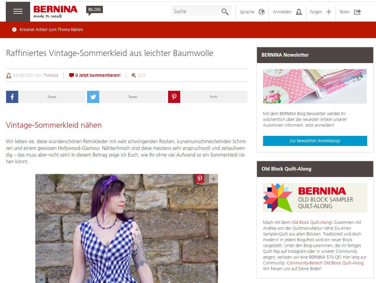 Bernina Blog Screenshot
