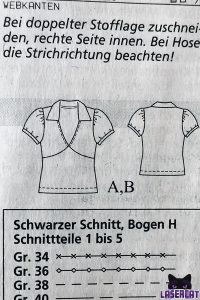 Burdastyle Schnittmuster T-Shirt
