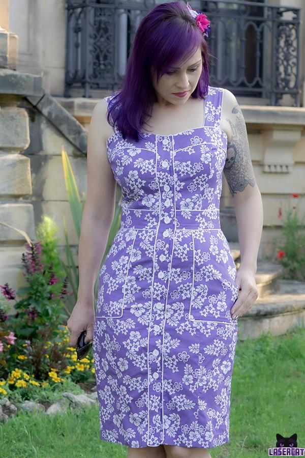 Kleid selber nähen aus Blumenstoff