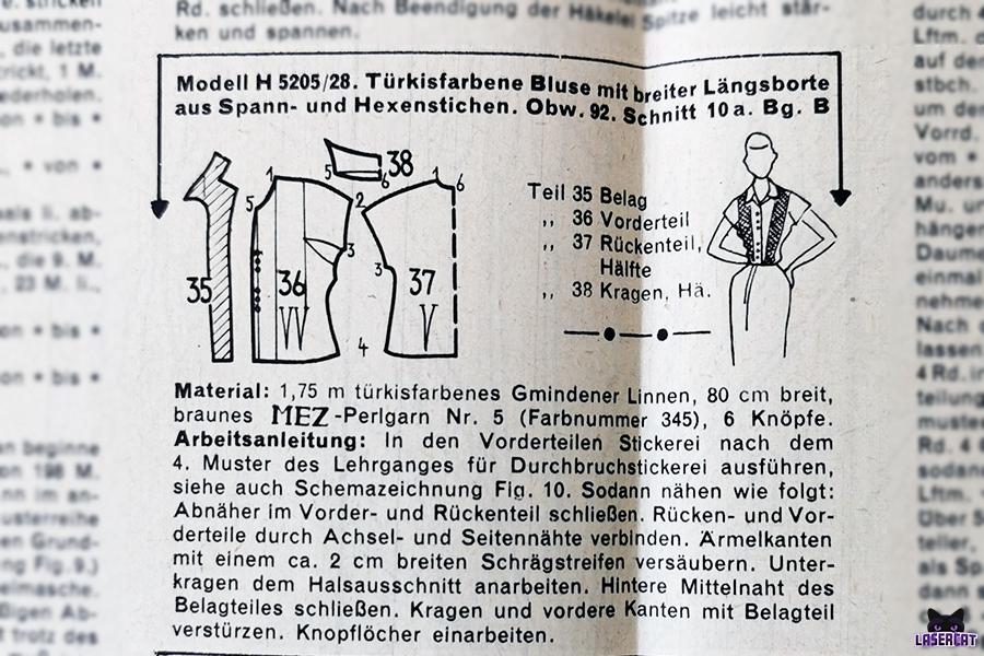 Nähanleitung aus Beyers Handarbeit und Wäsche 1952